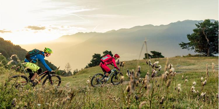 Mountainbiking at the Montesole Trail